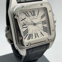 Cartier Santos 100 Zeljezo 41mm Bjel Rimski brojevi