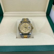 Rolex Sky-Dweller Gold/Steel 42mm Gold No numerals
