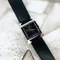 Hermès Heure H Stal 26mm Czarny Arabskie