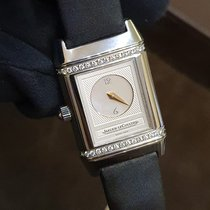 Jaeger-LeCoultre Steel Manual winding Mother of pearl Arabic numerals 21mm pre-owned Reverso Duetto