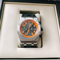 Audemars Piguet Royal Oak Offshore Chronograph Volcano Сталь 42mm Черный Aрабские