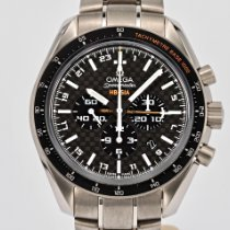 Omega Speedmaster HB-SIA pre-owned 44.25mm Black Chronograph Date GMT Tachymeter Titanium
