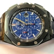 Audemars Piguet Royal Oak Offshore Chronograph occasion 44mm Bleu Chronographe Date Caoutchouc