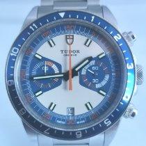 Tudor Heritage Chrono Blue Сталь 42mm Синий Без цифр