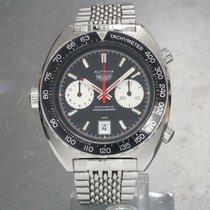 Heuer Steel 42mm Automatic HEUER AUTAVIA 11630 Cal.12 42mm Mens Automatic Chronograph Swiss Vintage Watch pre-owned