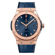 Hublot Rose gold Automatic Blue No numerals 45mm new Classic Fusion Blue