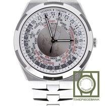 Vacheron Constantin Overseas World Time Steel 43.5mm Silver