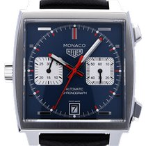 TAG Heuer Monaco Calibre 11 Staal 39mm Blauw