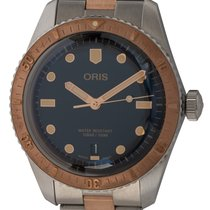 Oris Bronze Automatic Blue 40mm pre-owned Divers Sixty Five