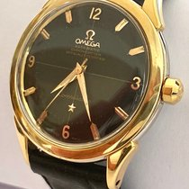 Omega Constellation Gold/Steel 35mm Black No numerals