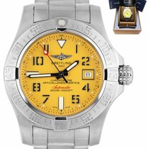 Breitling Avenger II Seawolf Steel 45mm Yellow Arabic numerals United States of America, New York, Lynbrook