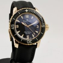 Blancpain Fifty Fathoms Rose gold 45mm Black Arabic numerals