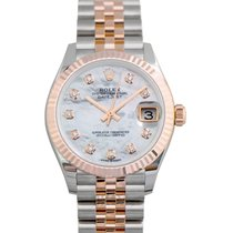 Rolex Or rose Remontage automatique Nacre nouveau Datejust