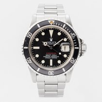 Rolex Submariner Date Steel 40mm Red No numerals United Kingdom, Guildford,Surrey