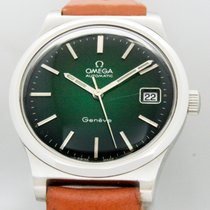 Omega Steel Automatic Green No numerals 35mm pre-owned Genève