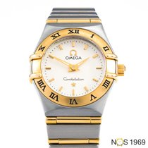 Omega Constellation Ladies Acero y oro 23,50mm Champán