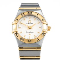 Omega Constellation Quartz Gold/Steel 25mm Champagne