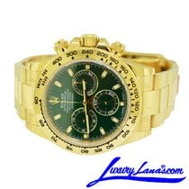Rolex Daytona Yellow gold 40mm Green No numerals United States of America, New York, Massapequa