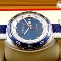 Hamilton Pan Europ Acier 42mm Bleu Sans chiffres