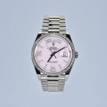 Rolex Day-Date 36 White gold 36mm Pink No numerals