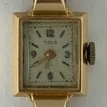 Tudor Rose gold Manual winding Silver Arabic numerals 17mm pre-owned