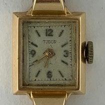 Tudor Ouro rosa Corda manual Prata Árabes 17mm usado