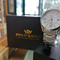 Philip Watch Blaze Acero 46,7mm Blanco Arábigos