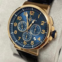 Ulysse Nardin Marine Chronograph Or rose 43mm Bleu