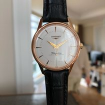 Longines Flagship Heritage Rose gold 35.5mm White No numerals