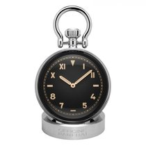 Panerai Table Clock Steel Black