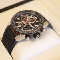 TAG Heuer Carrera Calibre HEUER 01 pre-owned Black Chronograph Date Rubber