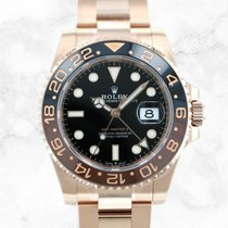 Rolex GMT-Master II Rose gold 40mm Black No numerals