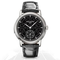 Patek Philippe Minute Repeater Oro blanco 38mm Negro Sin cifras