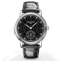 Patek Philippe White gold Automatic Black No numerals 38mm new Minute Repeater