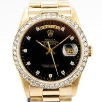 Rolex Day-Date 36 Oro amarillo 36mm Negro Sin cifras