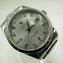 Rolex Day-Date 36 White gold 36mm Silver Malaysia