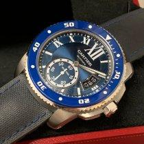 Cartier Calibre de Cartier Diver Stahl 42mm Blau Römisch