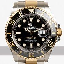 Rolex Sea-Dweller Goud/Staal 43mm Zwart Geen cijfers