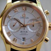 Omega Oro rosa Automático Plata Romanos 42mm usados De Ville Co-Axial