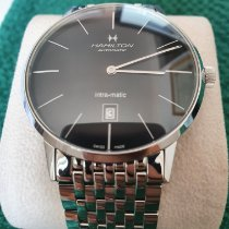 Hamilton Intra-Matic pre-owned 42mm Black Date Steel