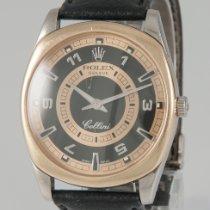 Rolex Cellini Danaos Or blanc 38mm Noir Sans chiffres