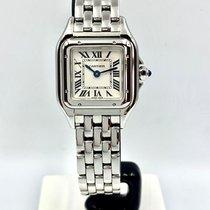 Cartier Panthère Steel 22mm Silver Roman numerals