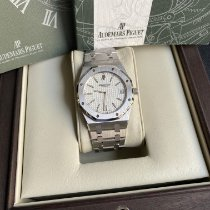 Audemars Piguet Royal Oak Jumbo Acier 39mm Blanc Sans chiffres France, Paris