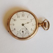 Waltham Vintage Gold 14kt Yellow Plated Waltham Pocket Watch, Approx 1928, Working, 17 Jewel Movement, Waltham, Open Face, Small Case 32 mm Good Gold/Steel 32mm Manual winding United States of America, California, Rancho Santa Fe, CA
