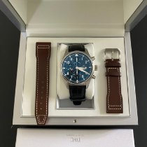 IWC Pilot Chronograph pre-owned 43mm Blue Chronograph Date Weekday Calf skin