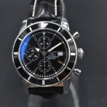 Breitling Superocean Héritage Chronograph pre-owned 46mm Black Chronograph Date Crocodile skin