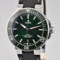 Oris Aquis Date Zeljezo 39.5mm Zelen Bez brojeva