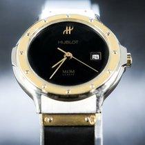 Hublot Classic Acero y oro 28mm Negro Sin cifras