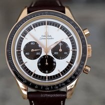 Omega Speedmaster Professional Moonwatch Rose gold 39.7mm Silver No numerals United States of America, Massachusetts, Milford