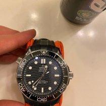 Omega Ceramic Automatic Black No numerals 43.5mm pre-owned Seamaster Diver 300 M